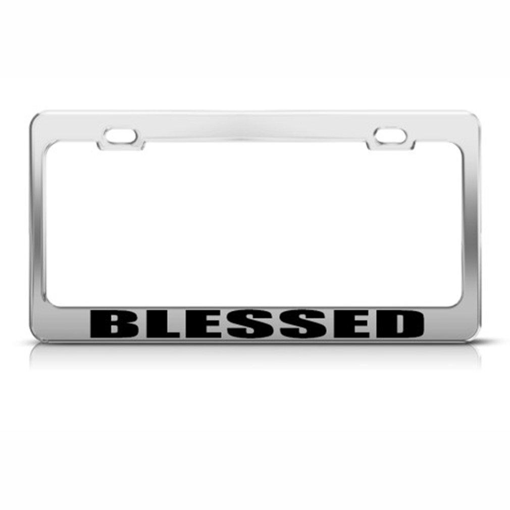 Blessed Gott Religiöse Christ Nummernschild Rahmen Edelstahl Metall ...