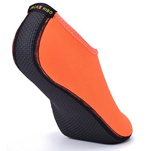 Surfschuhe Neoprenschuhe Orange Herren BarfußSchuhe Schwimmschuhe Damen Aquaschuhe Strandschuhe JACKSHIBO Wasserschuhe Badeschuhe a1xy0qPOP
