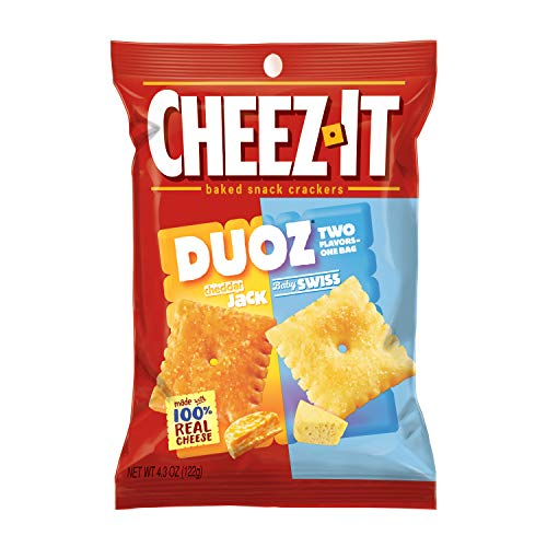 CheezIt Duoz Cheddar Jack Baby Swiss (Pack of 6) (Best Cheese For Baby)