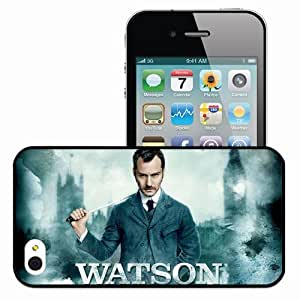 Personalized iPhone 4 4S Cell phone Case/Cover Skin Sherlock Holmes Black