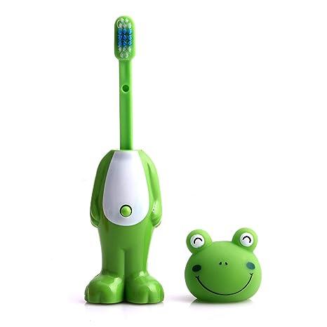 guoyy dibujos animados cepillo de dientes infantil (cerdas suaves telescópico dientes Brus boca limpio