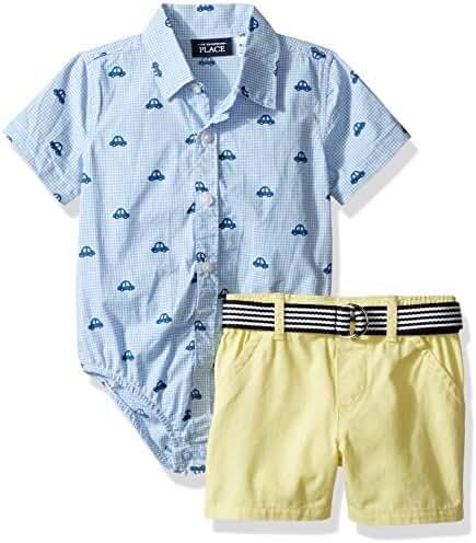 The Children's Place Baby-Boys' Li'l Guy's Short & Top Clothing Set
