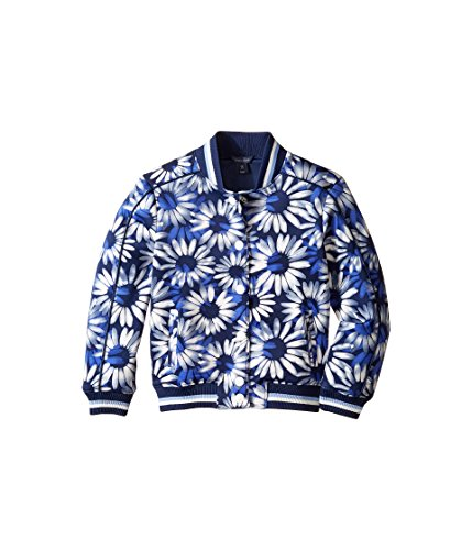 d8528222 Tommy Hilfiger Kids Printed Baseball Jacket Big Kids Flag Blue Girl's Coat