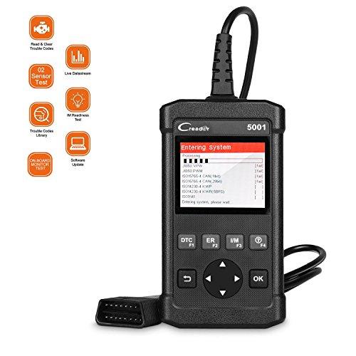 LAUNCH OBD2 Scanner CReader 5001 Car Engine Fault Code Reader Diagnostic Scan Tool O2 Sensor Board Monitor Test