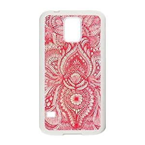 Red CUSTOM Cover Case for SamSung Galaxy S5 I9600 LMc-74417 at LaiMc
