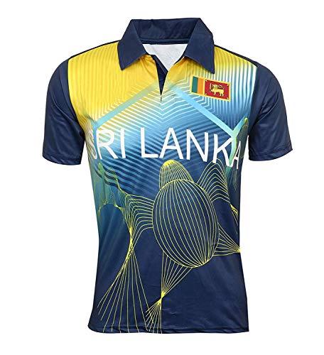 KD WC 19 Cricket Sri Lanka Jersey Supporter T Shirt Malinga 99 Custom Print Name No Sri Lanka Uniform (Custom,38)