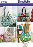 sewing craft patterns - Simplicity Pattern 2396 Tote Bags 4 Styles Designed by Sweet Pea Totes