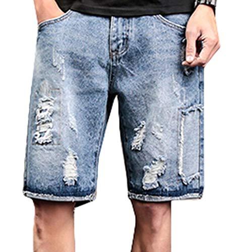 Bermuda Sportivi Destrutturati Casual Colour Used Uomo Slim lannister Retro Pantaloni Pantalone Denim Jeans Stretch Qk Ragazzo wqIYHTn