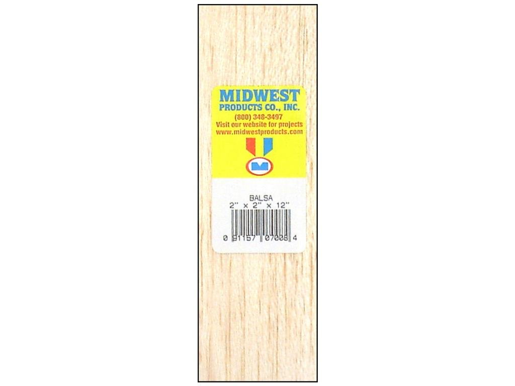 Midwest Balsa Blocks 2 in. x 2 in. x 12 in. by Midwest Midwest Products Co. BCAC18619