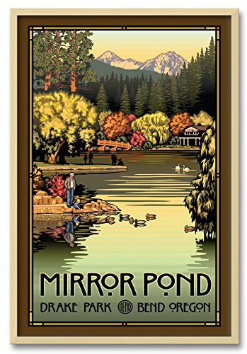 irror Pond Autumn Professionally Framed Wall Decor by Paul Leighton. Print Size: 24