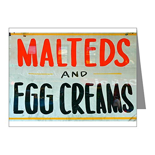 CafePress - NYC: Malteds And Egg Creams - Blank Note Cards (Pack of 20) Glossy