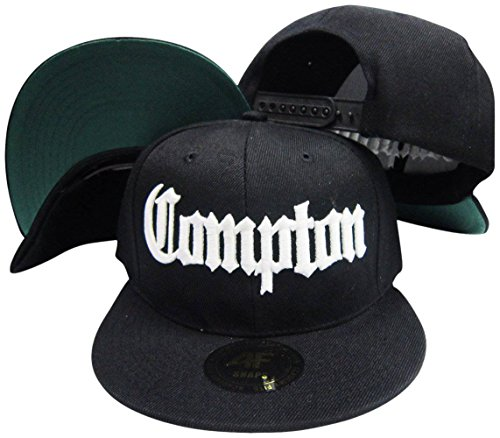 0854fb3ee32 Compton Old English Black Adjustable Snapback Hat   Cap - Import It All