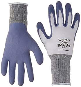 LFS GLOVE Work Gloves, Latex Palm, Blue, Small