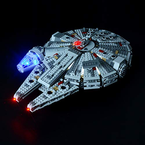 Briksmax Led Lighting Kit for Star Wars Millennium Falcon - Compatible with Lego 75105 Building Blocks Model- Not Include The Lego ()