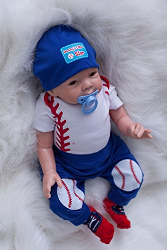 "OtardDolls Reborn Dolls 22"" Reborn Baby Dolls Lifelike Soft Vinyl Doll Children Gifts (Football Kid)"