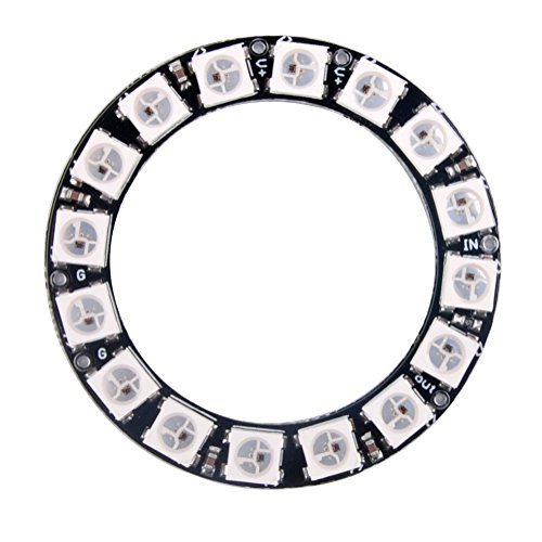 DIYmall 16 Bits 16 X WS2812 5050 RGB LED Ring Lamp Light with Integrated Drivers