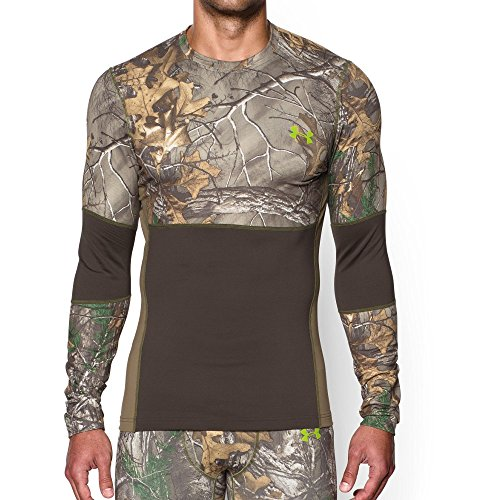 Under Armour Men's ColdGear Infrared SC TEVO Crew Shirt, Realtree AP-Xtra, - Sunglasses Under Camo Armour