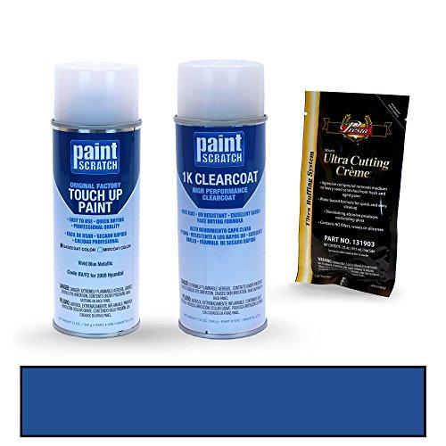 (PAINTSCRATCH Vivid Blue Metallic BV/F2 for 2009 Hyundai Elantra - Touch Up Paint Spray Can Kit - Original Factory OEM Automotive Paint - Color Match Guaranteed)