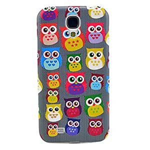 PEACH Lovely Owl Pattern Soft TPU IMD Case for Samsung Galaxy S4 I9500