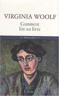 Comment Lire un Livre par Virginia Woolf