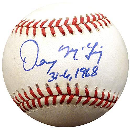 Tigers Denny Detroit Mclain (Denny McLain Signed Auto AL Baseball Detroit Tigers 31-6 1968 - Beckett Authentic)