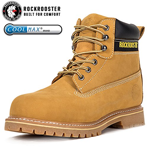 ROCKROOSTER Women's Work Boots, Men's Hiking Boot, Safety Shoes AP230 Brown, US (M8, F9.5) by ROCKROOSTER