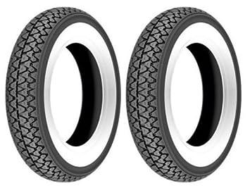 Par 2 neumáticos Kenda K 333 con banda blanca tamaño 3.00 - 10 para Vespa 50 Pk Rush: Amazon.es: Coche y moto