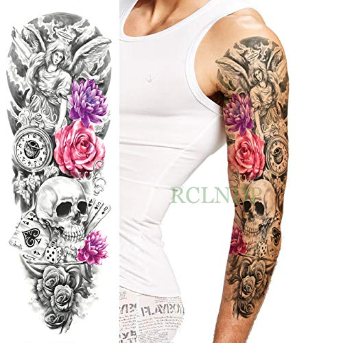 ljmljm 3pcs Tatuaje Impermeable Etiqueta Rey León Corona Rose ...
