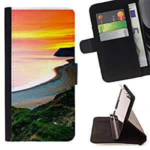 Jordan Colourful Shop - Sunset Beautiful Nature 105 For Samsung Galaxy Note 4 IV - Leather Case Absorci???¡¯???€????€????????&c