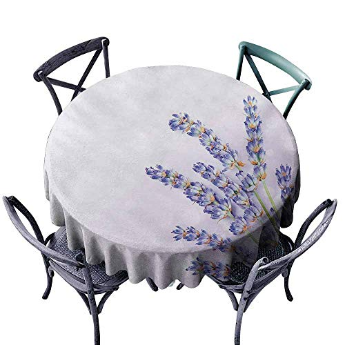 - VIVIDX Spill-Proof Table Cover,Lavender,Little Posy of Medicinal Herb Fresh Plant of Purple Flower Spa Aromatheraphy Organic,Table Cover for Home Restaurant,35 INCH,Lavander