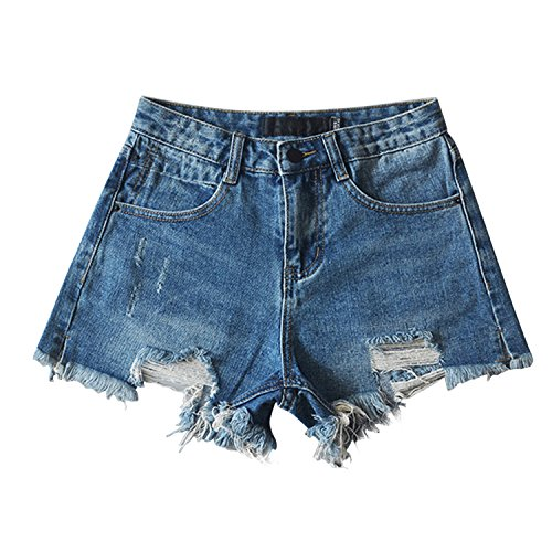 Misscat Womens Denim Jeans Distressed Worn-Out Ripped Short Pants by Misscat
