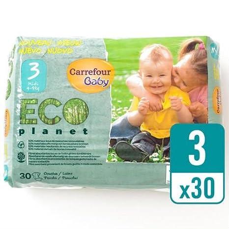 Carrefour bebé Eco planeta tamaño 3 Carry Pack 30 Pañales ...
