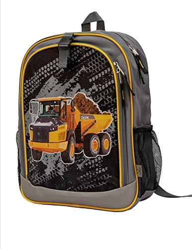 John Deere Gray Construction Dump Truck Bookbag Backpack LP70693 (Tractor Gift Bag)