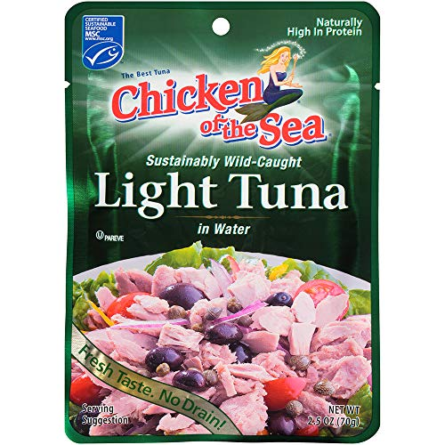 - Chicken of the Sea Tuna Premium Light, 2.5 Ounce Pouch (Pack of 12)
