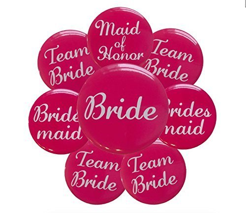16 Pink Bachelorette Buttons Bridesmaid product image