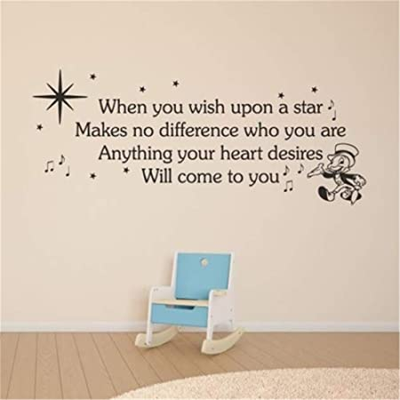 yiyiyaya When You Wish Upon Star Cita Tatuajes de Pared ...