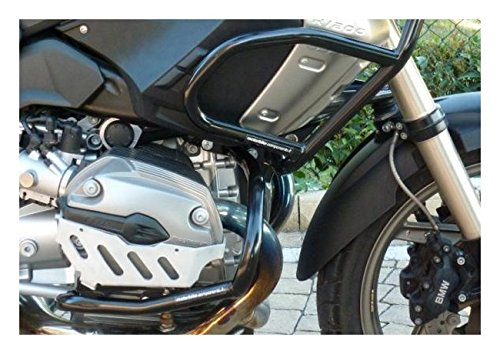 Adventure 2009 MotorbikeComponents Kit tank protection tubular and crash bar in iron black painted BMW R 1200 Gs