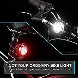 Vont 'Pyro' Bike Light Set, USB Rechargeable, Super Bright Bicycle Light, Bike Lights Front and Back, Bike Headlight, 2X Longer Battery Life, Waterproof, 4 Modes
