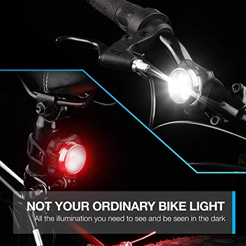 Vont \'Pyro\' Bike Light Set, USB Rechargeable, Super Bright Bicycle Light, Bike Lights Front and Back, Bike Headlight, 2X Longer Battery Life, Waterproof, 4 Modes (2 Cables, 4 Straps)