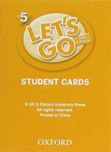 Let's Go 5 Student Cards: Language Level: Beginning to High Intermediate. Interest Level: Grades K-6. Approx. Reading Level: K-4 Crds Stu edition by Nakata, Ritzuko, Frazier, Karen, Hoskins, Barbara (2012) Paperback