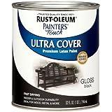 Rust-Oleum 1979502 Painters Touch Latex,  1-Quart, Gloss Black