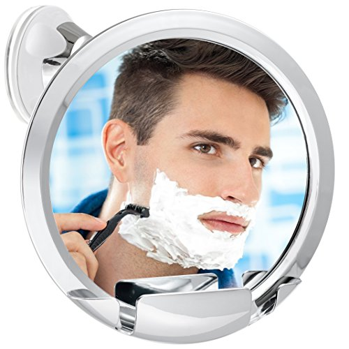 (Fogless Shower Mirror with Built-In Razor Holder | 360° Rotation | Real Fog-Free Shaving | Adjustable Arm & | Shatterproof & Rust-Resistant | Non-Fogging Bathroom Mirror for Men and Women)