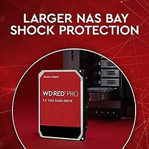 """WD Red Pro 2TB NAS Internal Hard Drive - 7200 RPM Class, SATA 6 Gb/s, CMR, 64 MB Cache, 3.5"""" - WD2002FFSX"""