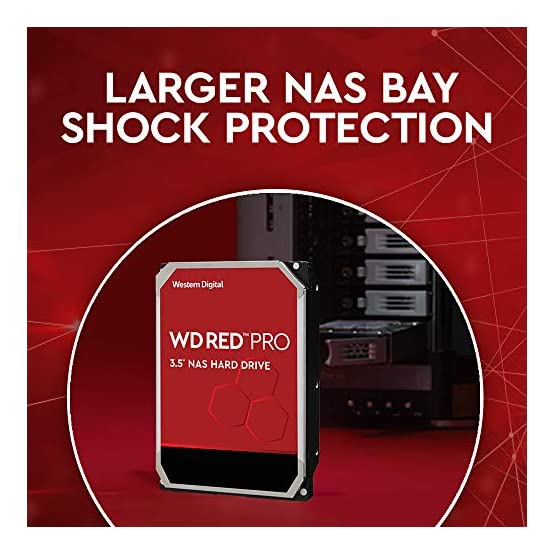 "WD Red Pro 2TB NAS Internal Hard Drive - 7200 RPM Class, SATA 6 Gb/s, CMR, 64 MB Cache, 3.5"" - WD2002FFSX 51yCpUEzHJL. SS555"