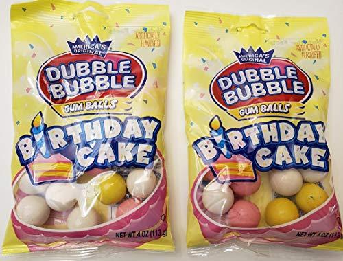 Dubble Bubble Birthday Cake gumballs, America's Original, 2 pack