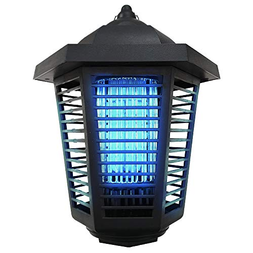 Electric Bug Zapper Insect Mosquito Killer - 2019 Upgraded Fly killer Super 18W 3U Shape UV Bulb, IP24 Waterproofed + Attractant Space Outdoor & Indoor Electronic Gnat Trap. 1/2-1 Acre Coverage.