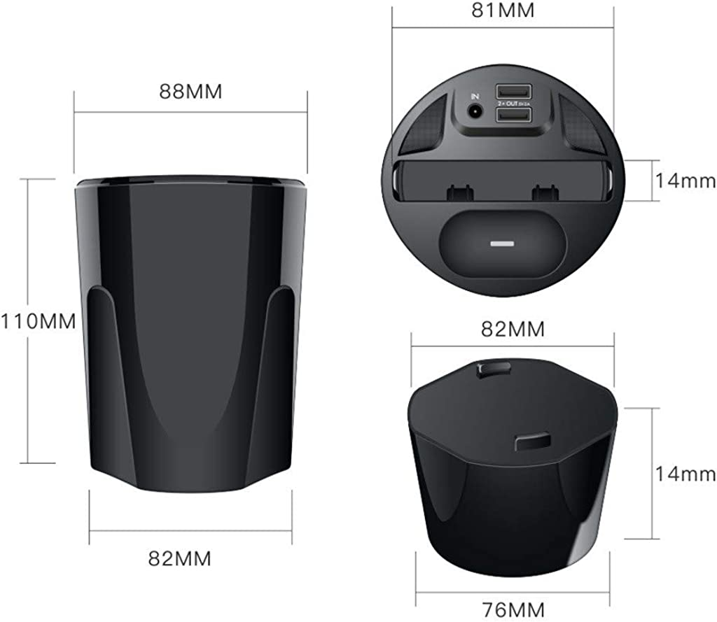 ❤️Byedog❤X9A 10W Wireless Charger Cup with USB Output for iPhoneXS//XR//XS Max for Airpods 2th
