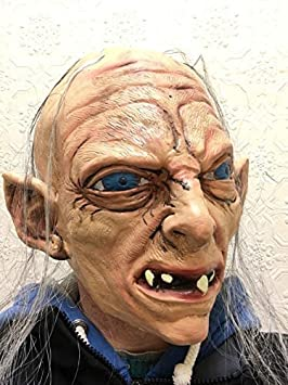 Deluxe Gollum Mask Full head Latex Sméagol Hobbit Rings Fancy Dress Masks