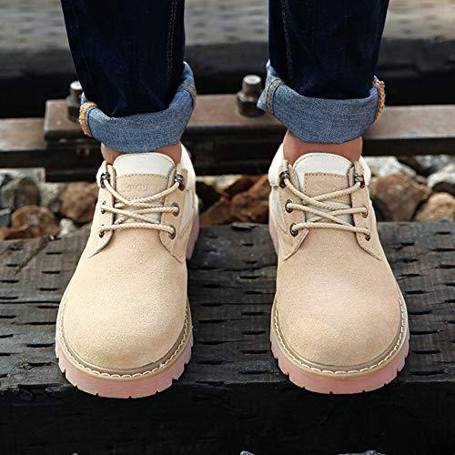 Yixiny 8819 5 Zapatos Antideslizantes Color De cn43 Hombre Abc Caqui Lab Piel uk8 Talla Para 42 gqdHfgx