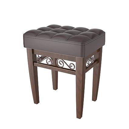 amazon com crownroyaljack furniture square piano bench bathroom rh amazon com bathroom vanity bench amazon bathroom vanity benches
